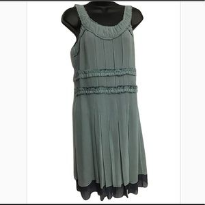 Marc Jacobs Pleated Silk Dress Sz 2 Seafoam Green